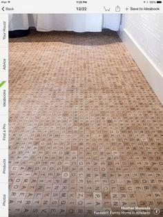 Scrabble Floor in a powder room http://houzz.com/photos/12560956