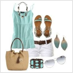 CHATA'S DAILY TIP: Dress up your casual white shorts with a casual-smart T-shirt and on-trend accessories. Opt for a longer shorts length (mid to end knee) if your legs don't allow you to wear short shorts.  COPY CREDIT: Chata Romano Image Consultant, Monica Groome http://chataromano.com/consultant/monica-groome/ IMAGE CREDIT: Pinterest