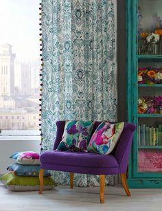 blog de decoração - Arquitrecos: Minha cortina repaginada com pompons - Super fácil de fazer!