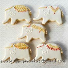 Elephant sugar cookies6 by SweetGirlSugarCookie on Etsy