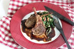 Lamb Chops with Herbs and Balsamic Sauce | Cooking in Sens