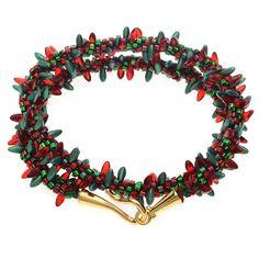 Holiday Lights Wrap Bracelet   Beadaholique