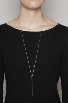 Kristen Elspeth Bar Necklace (Gold)