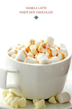 Vanilla Latte White Hot Chocolate by Diethood