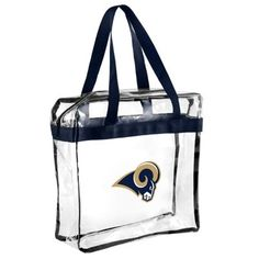 Jerseys NFL Cheap - Los Angeles Rams Clear Reusable Bag | Reusable Bags, Catalog and Bags