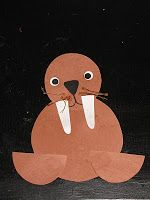 Easy Walrus Arctic Animal Winter Preschool Craft @Megan Ramsey
