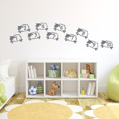 Counting Sheep Wall Art Decal is so adorable for any #nursery or #kidsroom!