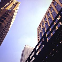 A slice of Chicago sky taken on the walk to the Mart #NeoConography #NeoCon13