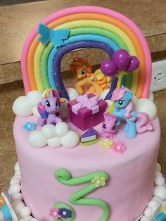 My Little Pony — Birthday Cakes cake my little pony cake birthday party cake girl pink blue rainbow cookie cupcake