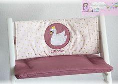 Tripp Trapp Kissen Set - muriels-nähatelier Baby Set, Toy Chest, Storage Chest, Cabinet, Furniture, Home Decor, Pink, Atelier, Swans