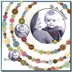 scrapbook pages - Bing Images! Instead of saying Amazing I would put cute as a button since Elijah can say button!