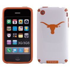 Texas Longhorns Hard iPhone Case   Made of durable plastic  Form fitting anti-slip silicone  Fits iPhone 3G/3GS  Includes cutouts for buttons and ports  Removable screen guard  Officially licensed collegiate product  Anti-static cleaning cloth  Imported     Made of durable plastic  Form fitting anti-slip silicone  Fits iPhone 3G/3GS  Includes cutouts for buttons and ports  Removable screen guard  Anti-static cleaning cloth  Imported  Officially licensed collegiate product