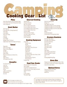 Here is my outdoor cooking gear checklist. It's not so much a checklist of everything I always take with me, but serves as a reminder for when I'm packing for a trip. I hate getting to camp and discovering I've forgotten to bring an essential item.