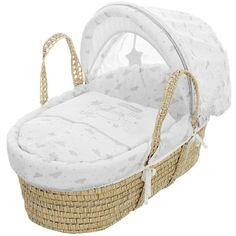 Winnie The Pooh Dreams &Amp; Wishes Moses Basket ($79) ❤ liked on Polyvore featuring home, children's room and baby
