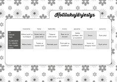 Helsinki, Bujo, Household, Calendar, New Homes, Bullet Journal, Printables, Organization, Tips