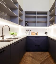 The Block kitchen reveals The Block Bianca and Carla's butler's pantry - Own Kitchen Pantry Kitchen Butlers Pantry, Pantry Room, Kitchen Pantry Design, Luxury Kitchen Design, Butler Pantry, Kitchen On A Budget, Luxury Kitchens, Kitchen Interior, Kitchen Decor