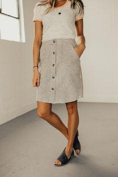 Trinidad Stripe Skirt | ROOLEE