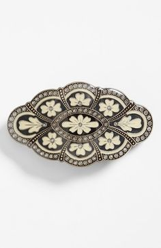 L. Erickson Scalloped Floral Barrette available at #Nordstrom