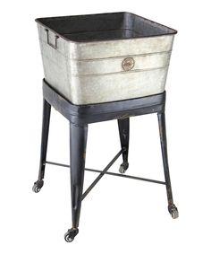 Another great find on #zulily! Metal Rolling Tub by VIP International #zulilyfinds