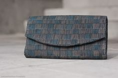 Olympian Blue and Titanium Taanmba Clutch for Fall 12