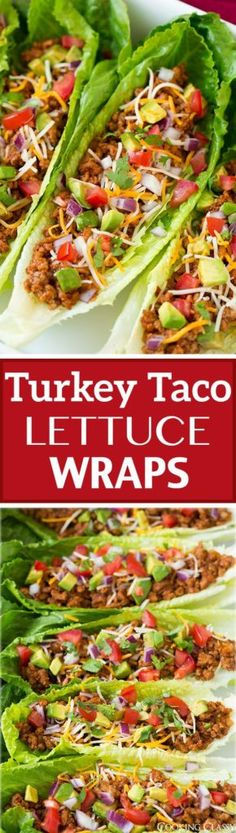 Clean Eating Turkey Taco Lettuce Wraps