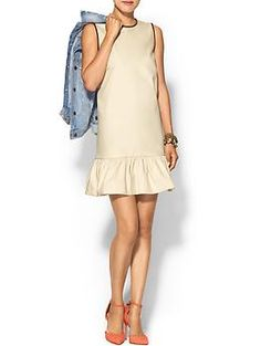 "Kate Spade New York Leather Trim Drop Waist Dress | Piperlime ""love me a drop waist""!"