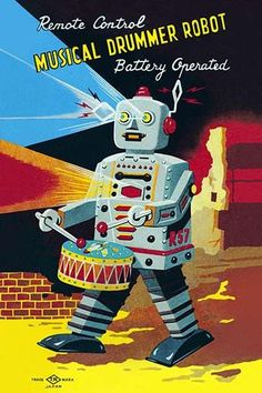 The 1950's was a time of wonder and the universe was the focus of many young imaginations. Hollywood adopted science fiction and the toy industry followed closely. The Japanese manufactured toy robots