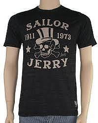 Sailor Jerry Mens T-Shirt Top Hat Skull Bones