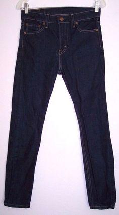 Levi's Jeans 30 Men's 510 Slim Skinny Dark Wash Stretch Denim Pants 29W X 28.5L #Levis #SlimSkinny