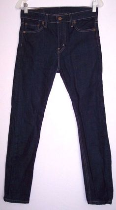 Levi's Jeans 30 Men's 510 Slim Skinny Dark Wash Stretch Denim Pants 29W X 28.5L #Levis #SlimSkinny