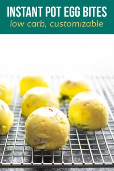 Instant Pot egg bites are soft, creamy, and easy to customize with your favorite add ins! Perfect for breakfast or meal prep, they are low carb and freezer-friendly. #sweetpeasandsaffron #eggbites #instantpot #mealprep #lowcarb #freezerfriendly #customizable Silicone Egg Mold, Egg Molds, Pressure Cooking, Freezer, Instant Pot, Meal Prep, Bacon, Low Carb, Eggs