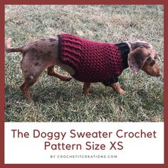 Easy FREE Crochet Dog Sweater Pattern The Doggy Sweater Crochet Pattern comes in 6 different sizes. It works up quick and is easy to make. Pattern uses basic crochet stitches. Cute Crochet, Crochet Dolls, Crochet Pet, Pikachu Crochet, Crochet Pouch, Crochet Pillow, Crochet Gifts, Beautiful Crochet, Crochet Dog Sweater Free Pattern