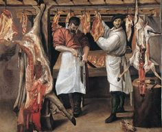 The Butcher Shop Wood Print by Carracci Annibale. All wood prints are professionally printed, packaged, and shipped within 3 - 4 business days and delivered ready-to-hang on your wall. Canvas Artwork, Oil On Canvas, Annibale Carracci, Meat Store, Butcher Shop, Meat Butcher, Italian Art, Artist Names, Art Museum