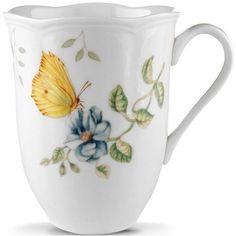 Dragonfly Butterfly Mug | Butterfly Meadow | Lenox