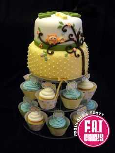 Happi Tree Baby Shower Cake  Cake by FatCakes