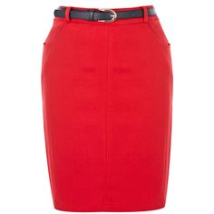 OASIS Belted Pencil Skirt ($61) ❤ liked on Polyvore