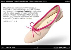 LUXURY CULTURE FEATURES OUR #PORSELLI #BALLERINA SHOES #LuxuryCulture  For the 2nd time in our short brand existence we are blessed to see our products featured in THE luxury online magazine.  Merci so much to Yaffa and Greg!  http://www.luxuryculture.com/