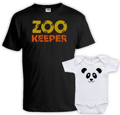 9f27643d Matching Father And Baby Father Daughter Matching Shirts Daddy And Son Shirts  Father And Baby Gift Zookeeper Panda Bodysuit MAT-732-733