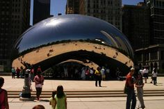 The bean is nothing more than a weird shaped mirror, but it's also a huuuuge photo op spot