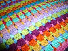 Suz Place: MOSS STITCH LOG CABIN CROCHET AND A BLOCK ST. RETURN