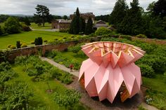 Completed in 2017 in Herefordshire, United Kingdom. Images by Marsha Arnold, Ivan Morison. . Look! Look! Look! sees a striking sculptural pavilion created by internationally renowned artists Heather and Ivan Morison take centre stage at the...