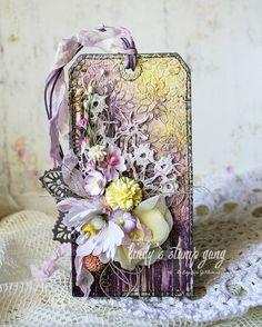Floral Tag by Evegeniya Zakharova | Lindy's Stamp Gang