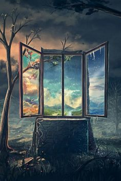 A Window into the world. A Mixture of Surrealism and Fantasy Digital Art. Fantasy World, Fantasy Art, Photo Awards, Leprechaun, Les Oeuvres, Amazing Art, Awesome, Concept Art, Scenery