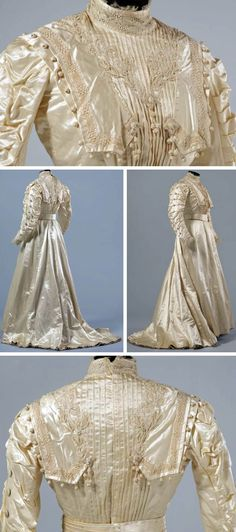 1890s silk and satin Wedding dress.