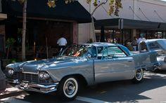 https://flic.kr/p/8dNaQw | 1957 Imperial HT - blue over gray metallic - fvl | Orange Car Show - City of Orange, CA