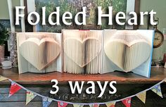 Folded Book: 1 Pattern 3 Ways