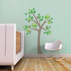 Nursery Wall Decal. Tree with Owls Children by trendypeasdecals, $78.00