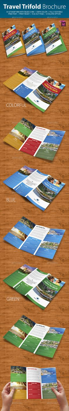 Travel Brochure Template A BiFold  Travel Brochure Template