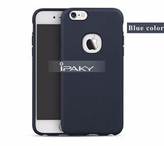 b34b1627216 Original iPaky Luxury Ultra-thin With Silicone body + leather texture Case  cover for iPhone 6 6s 4.7 Case Back Cover-Blue
