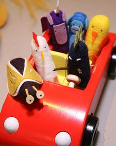 Cute Felted Finger Puppets Craft | Martha Stewart Living - These felted finger puppets are sure to entertain little children of all ages.